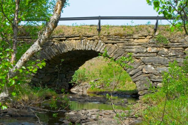 Фотообои с природой мост через реку (nature-00093)