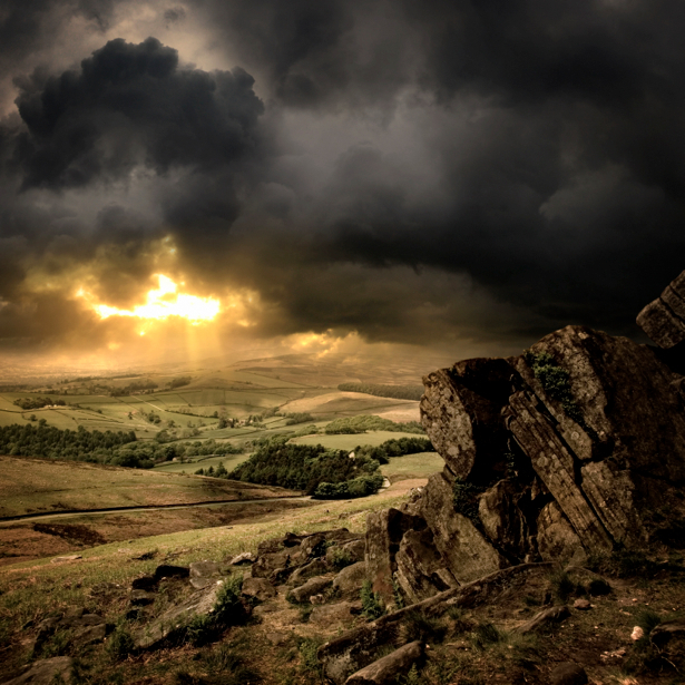 Фотообои горы закат гроза (nature-00290)
