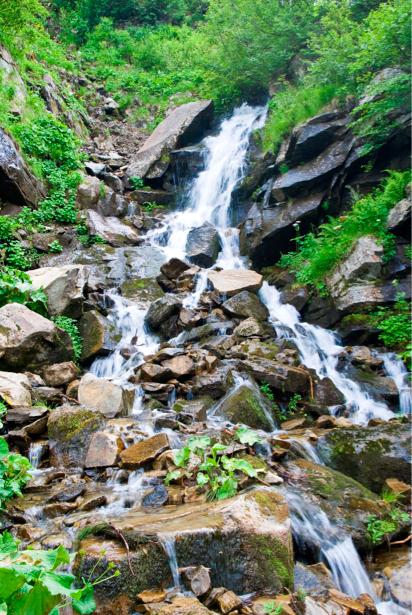 Фотообои с природой камни горный водопад (nature-00357)