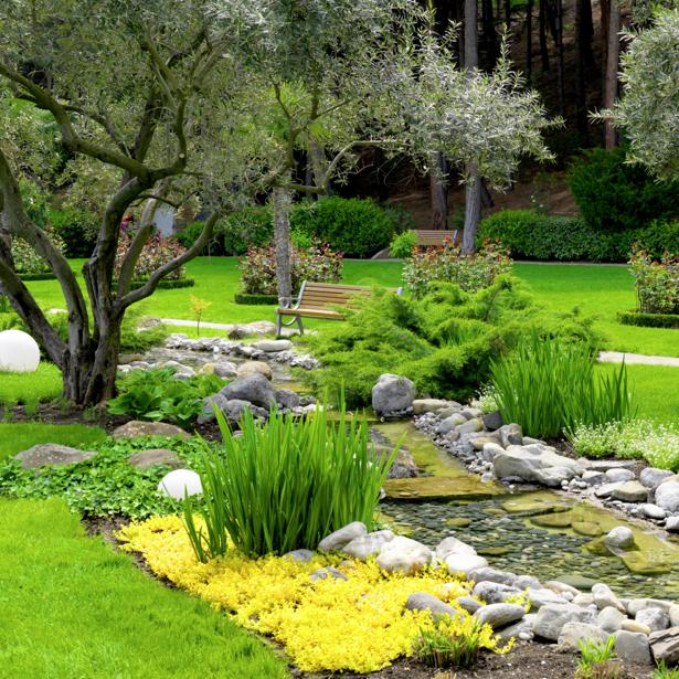 Фотообои сад для спльни (nature-00447)