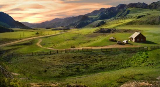 Фотообои ландшафтный пейзаж горы (nature-00469)