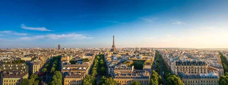 Фотообои панорамный вид на Париж (panorama-51)