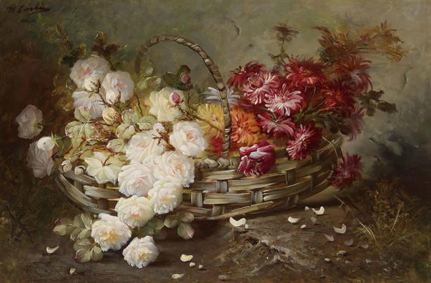 Картина розы и астры (pf-148)