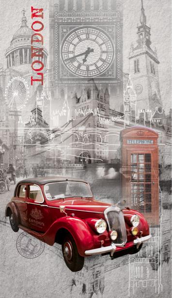 Фотообои в зал коллаж Лондон (printmaking-0000035)