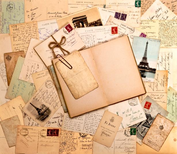 Фотообои ретро открытки письма (retro-vintage-0000083)