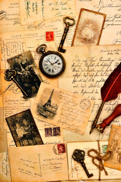 Фотообои письма открытки винтаж (retro-vintage-0000087)