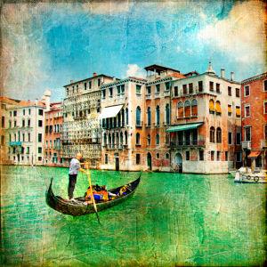 Фотообои канал в Венеции Италия (retro-vintage-0000120)