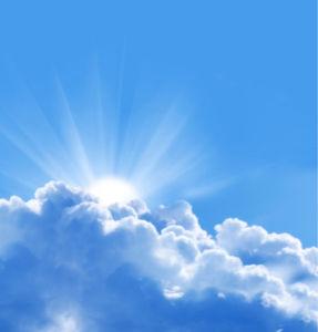 Фотообои лучи сквозь облака небо (sky-0000076)