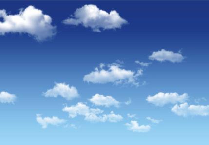 Фотообои в детскую небо с облаками (sky-0000119)