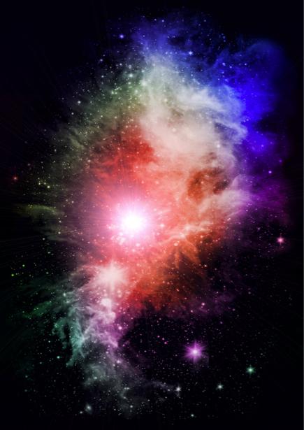 Фотообои красивая галактика (space-0000057)