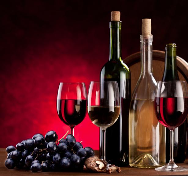 Фотообои с бокалом вина (still-life-0020)
