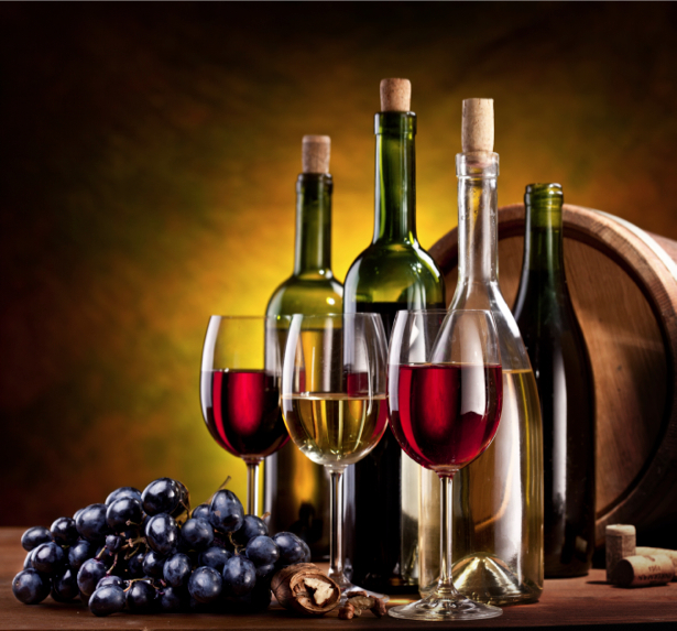 Фотообои сервировка бочка с вином (still-life-0024)
