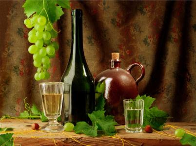Фотообои натюрморт виноград с вином (still-life-0042)