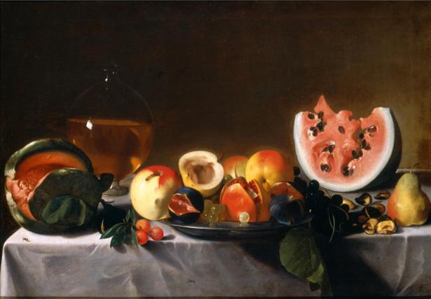 Фотообои Натюрморт с фруктами и графин (still-life-0069)