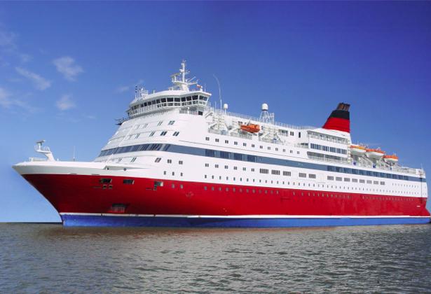 Фотообои круизный лайнер с красной кормой (transport-0000160)