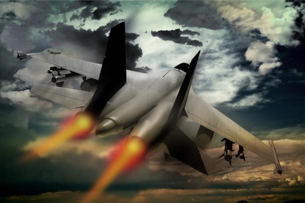 Фотообои  самолет военный (transport-0000249)
