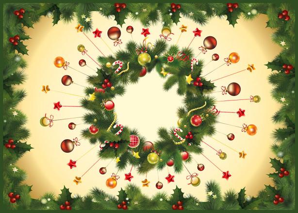 Скатерть Новогодние украшения (0020)