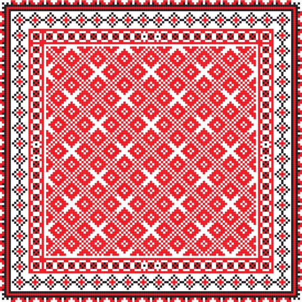 Скатерть украинские ромбы (0123)