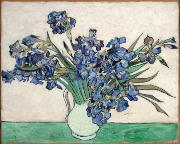 Живопись обои цветы -  Натюрморт с ирисами (art-0000200)