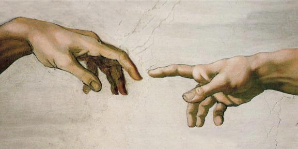 Фотообои сотворение Адама руки (art-0000672)