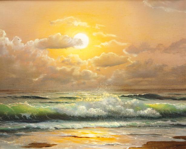Фотообои закат на море (art-0000711)