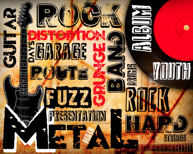Фотообои попарт рок гитара (background-0000001)