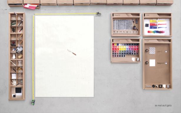 Фотообои краски кисти карандаши (background-0000244)