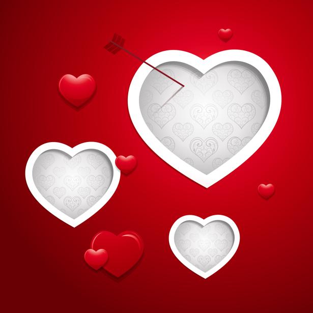 Фотообои Сердца и стрела (background-0000366)