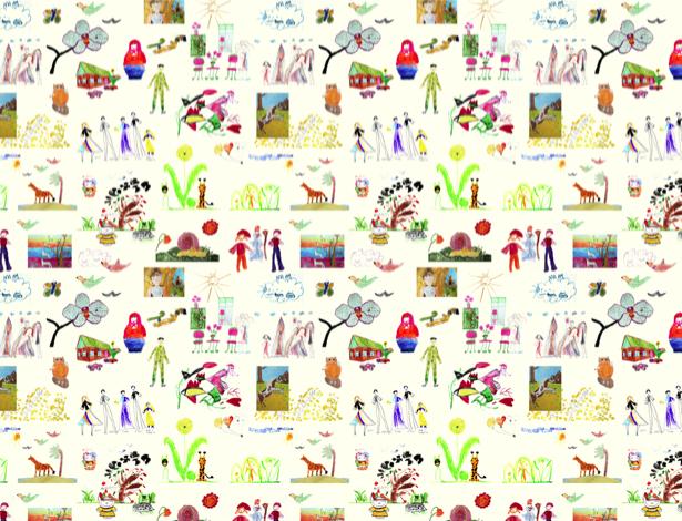 Детский рисунок - Фотообои детские (children-0000327)