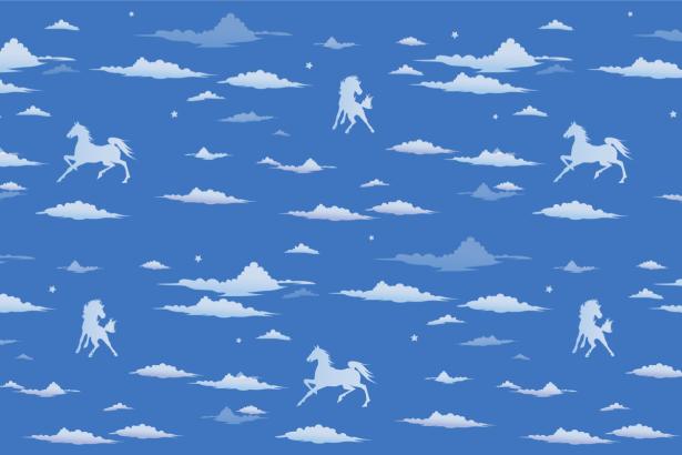 Фотообои небо с лошадками (children-0000396)