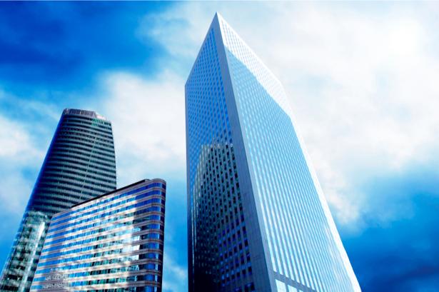 Фотообои небоскребы, архитектура, снизу, мегаполис (city-0000183)