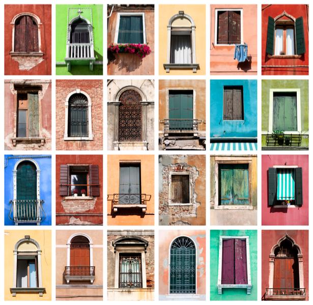 Фотообои окно фасад здания (city-0000577)