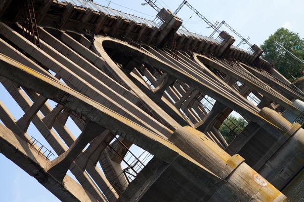 Фотообои мост Днепропетровск Украина (city-0000875)