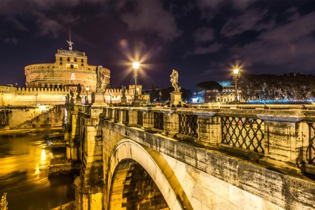 Фотообои мост Сант-Анджело Италия (city-0001277)