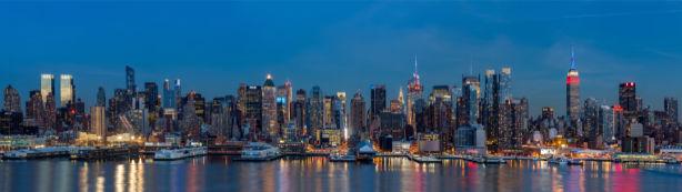 Фотообои Нью-Йорк архитектура с океана (city-0001336)