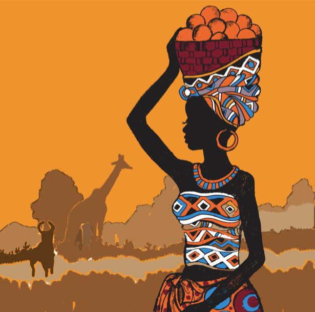 Фотообои Африка композиция (fantasy-0000162)