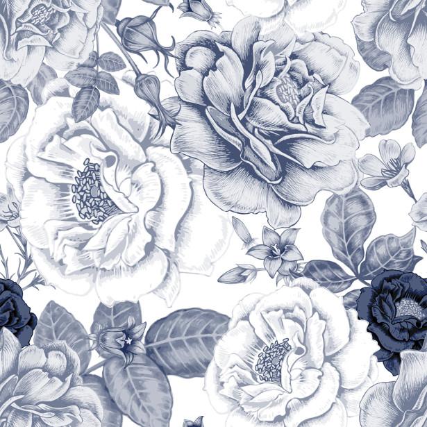 Фотообои паттерн с пионами (flowers-777)