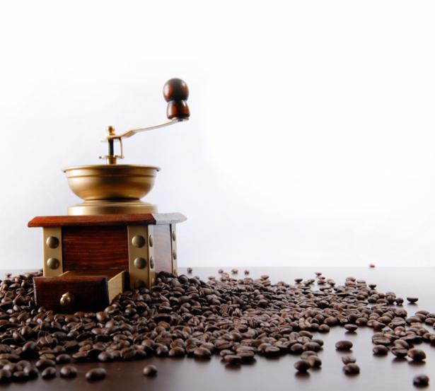 Фотообои кухня Кофемолка зерна кофе (food-0000165)