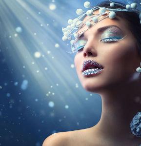 Фотообои зимняя красота женщины (glamour-298)