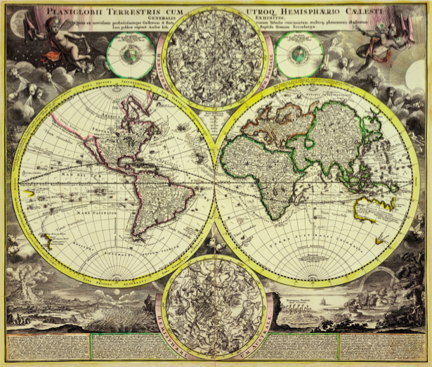 атлас, география, карты, старая карта (map-0000141)