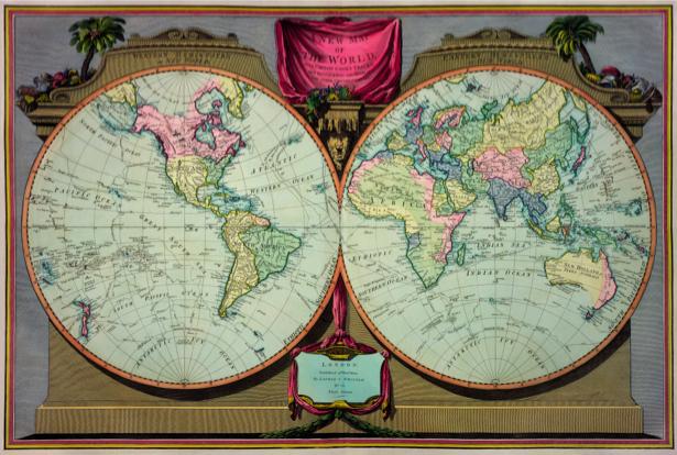 атлас, география, карты, старая карта (map-0000147)