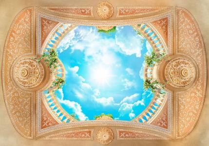 Фотообои для потолка верхняя терраса (ov0016)