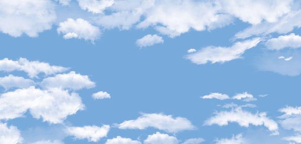 Фотообои для потолка облака (overhead-0011)