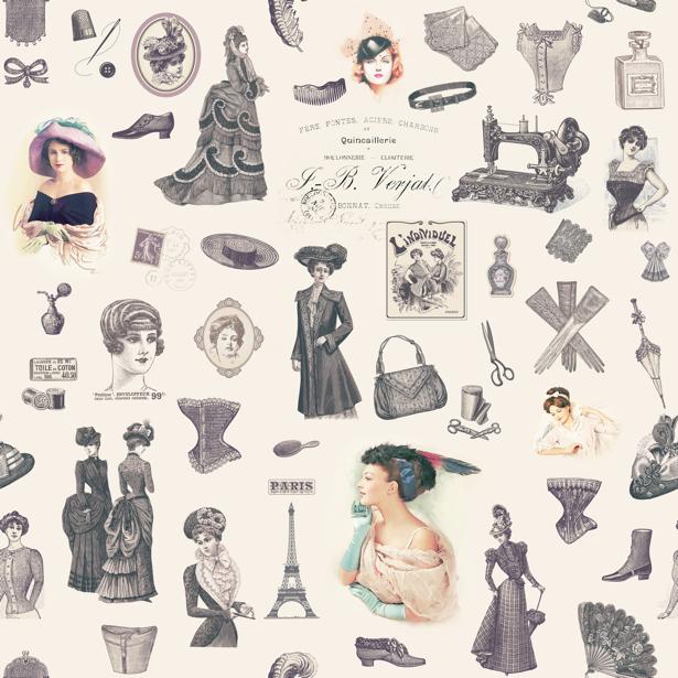 Фотообои Мода винтаж (printmaking-0000062)
