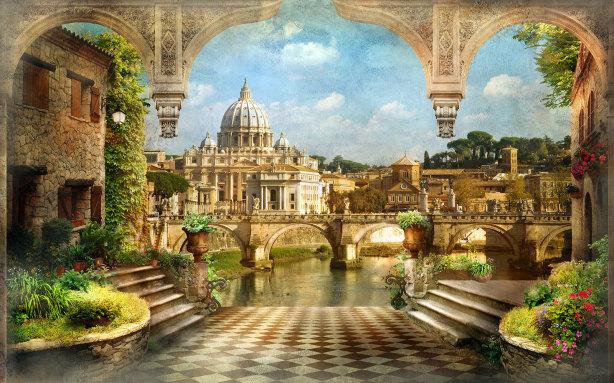 Фотообои Собор Святого Петра (printmaking-0000118)