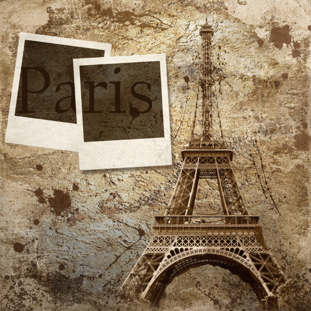 Фотообои Эйфелева башня в стиле винтаж (retro-vintage-0000027)