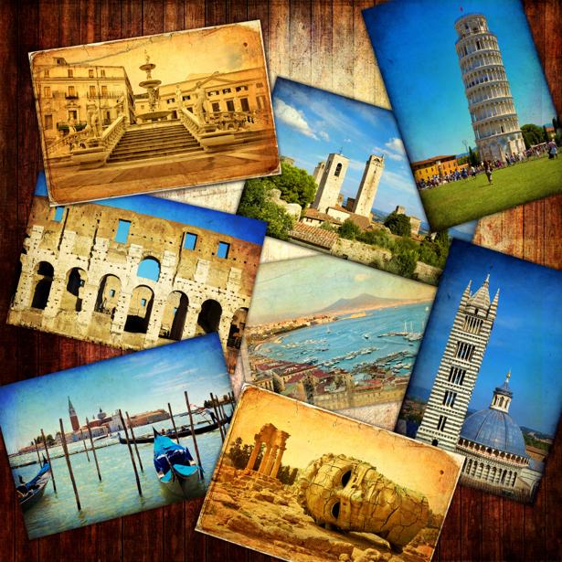 Фотообои открытки виды ретро (retro-vintage-0000160)