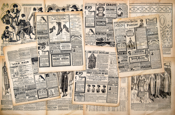 Фотообои коллаж из газет (retro-vintage-0000393)