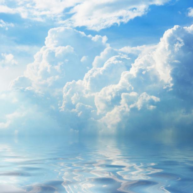 Фотообои небо и отражение в воде (sky-0000094)
