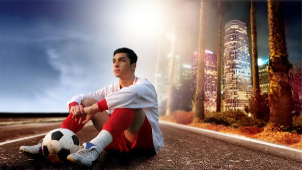 Фотообои футболис (sport-0000056)